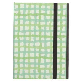 ビーチの植物相の緑のiPadの場合-ギンガム iPad Airケース