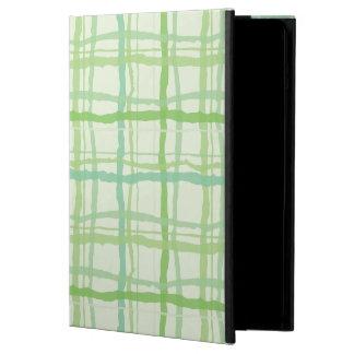 ビーチの植物相の緑のiPadの場合-格子縞 iPad Airケース