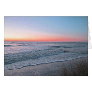 ビーチの正面図 カード