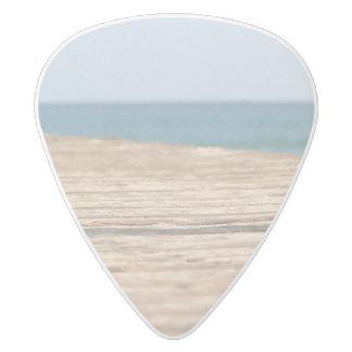 ビーチの歩行 ホワイトデルリン ギターピック
