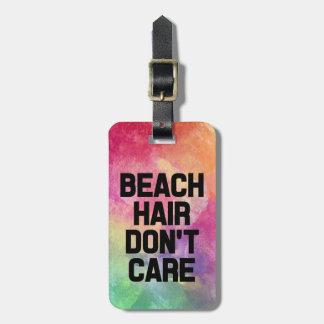 ビーチの毛はおもしろいな水彩画を気にしません ラゲッジタグ