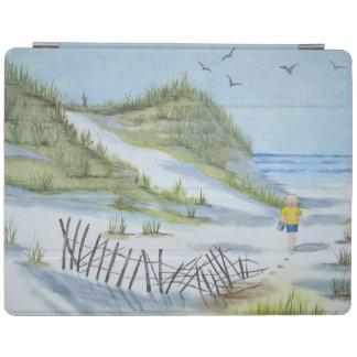 ビーチの水彩画 iPadスマートカバー