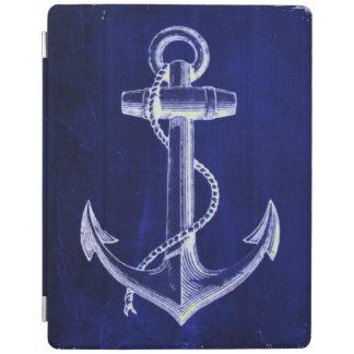 ビーチの沿岸シックで航海のな濃紺のいかり iPadスマートカバー