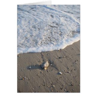 ビーチの波の泡 カード