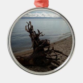 ビーチの流木 メタルオーナメント