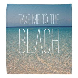 ビーチの海の夏の青空の砂に私を連れて行って下さい バンダナ