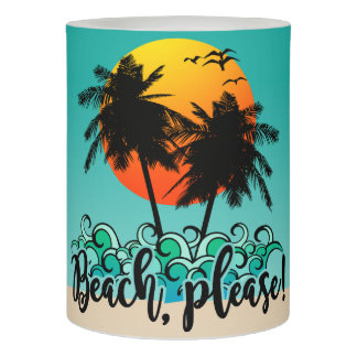 ビーチの海の日没の夏のおもしろい LEDキャンドル
