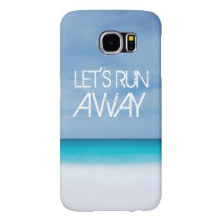 ビーチの海を言う遠くにな引用文旅行を走ろう SAMSUNG GALAXY S6 ケース