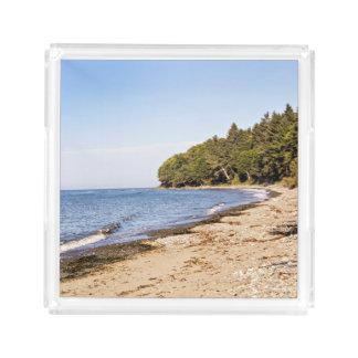ビーチの海岸ライン景色のトレイ アクリルトレー
