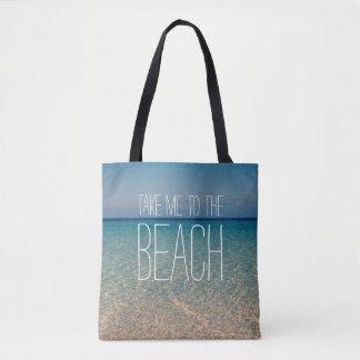 ビーチの海水の青空の海の砂に私を連れて行って下さい トートバッグ