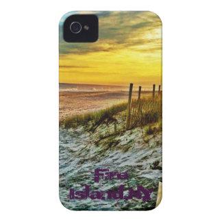 ビーチの火の島の日没 Case-Mate iPhone 4 ケース
