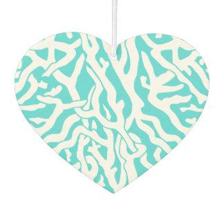 ビーチの珊瑚礁パターン航海ので白い青 カーエアーフレッシュナー