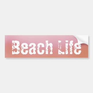 ビーチの生命バンパーステッカー バンパーステッカー
