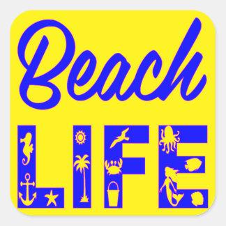 ビーチの生命FB.com/USAPatriotGraphicsの© スクエアシール