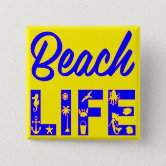 ビーチの生命FB.com/USAPatriotGraphicsの© 5.1cm 正方形バッジ