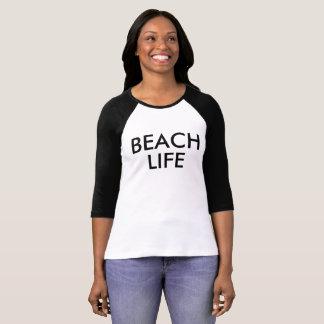 ビーチの生命RaglanのTシャツ Tシャツ