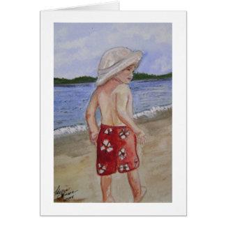 ビーチの男の子 カード