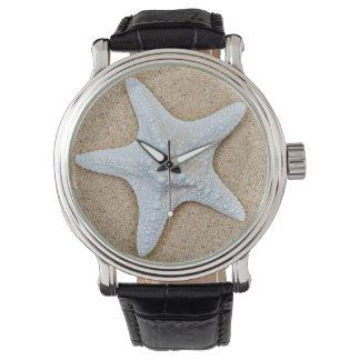 ビーチの白いヒトデ 腕時計