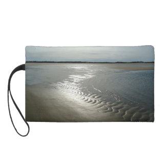 ビーチの眺めのリストレットの財布 リストレット