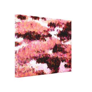ビーチの石のプール キャンバスプリント