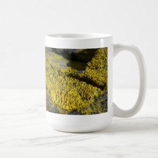 ビーチの石1の有史以前の黄色い地衣 コーヒーマグカップ