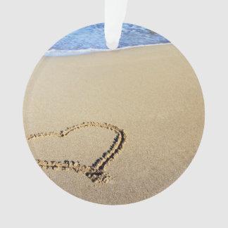 ビーチの砂のハート オーナメント