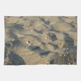 ビーチの砂の夏カバー キッチンタオル