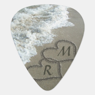 ビーチの砂の連結のハート ギターピック
