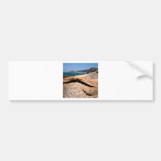 ビーチの砂岩腐食のカワウソの路傍 バンパーステッカー