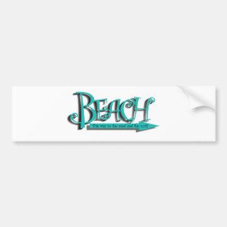 ビーチの砂n波 バンパーステッカー