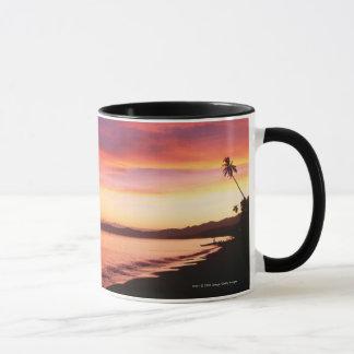 ビーチの美しい日没 マグカップ