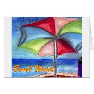 ビーチの腕時計の傘 カード