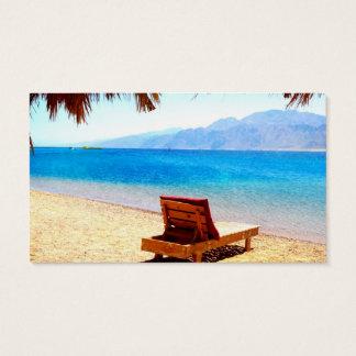 ビーチの自然の青海原の砂写真 名刺