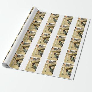 ビーチの自転車の写真のギフト用包装紙 ラッピングペーパー