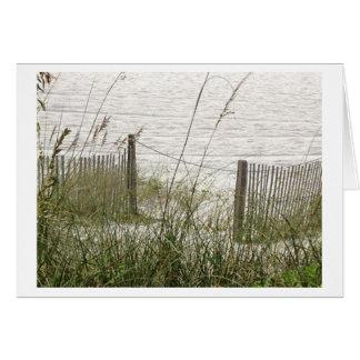 ビーチの草および塀 カード