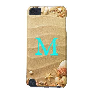 ビーチの貝殻のハワイのモノグラムのイニシャルIpod touch iPod Touch 5G ケース