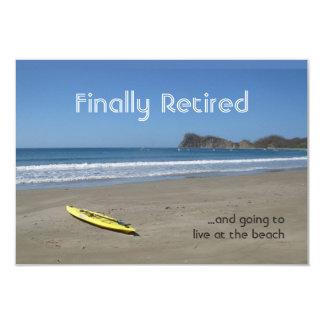 ビーチの退職 カード
