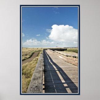 ビーチの遊歩道ポスター ポスター
