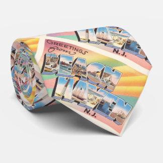 ビーチの避難所のニュージャージーNJのヴィンテージ旅行郵便はがき カスタムタイ