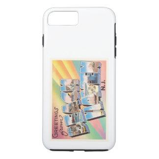 ビーチの避難所のニュージャージーNJのヴィンテージ旅行郵便はがき iPhone 8 PLUS/7 PLUSケース