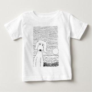 ビーチの金落書き ベビーTシャツ