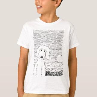 ビーチの金落書き Tシャツ