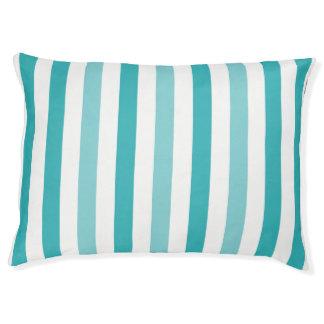 ビーチの青いターコイズは縞で飾ります ペットベッド