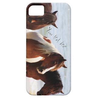 ビーチの馬が付いているカスタマイズ可能な電話箱 iPhone SE/5/5s ケース