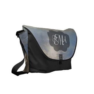 ビーチの3手紙のモノグラムのイニシャルの海 メッセンジャーバッグ