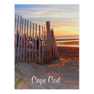 ビーチのBrewster MAの郵便はがき上のケープコッドの日の出 ポストカード