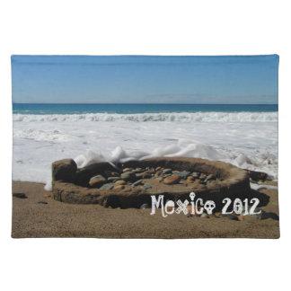 ビーチのFirepit; メキシコの記念品 ランチョンマット