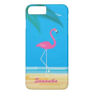 ビーチのiPhone 7のプラスの場合のピンクのフラミンゴ iPhone 8 Plus/7 Plusケース