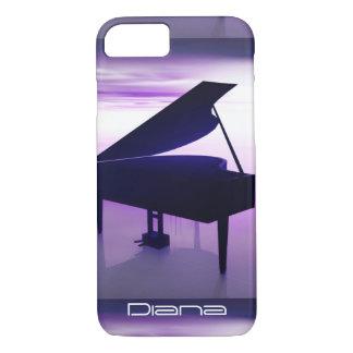 ビーチのiPhone 7の例のグランドピアノ iPhone 8/7ケース