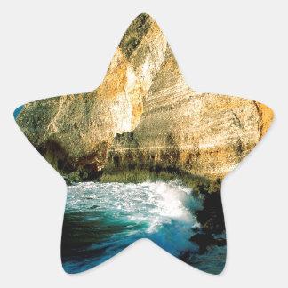 ビーチのPointe Desの館グアダループ 星シール